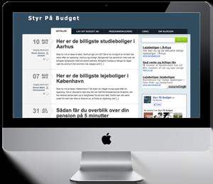 Firma hjemmeside - Reference: StyrPaaBudget.dk
