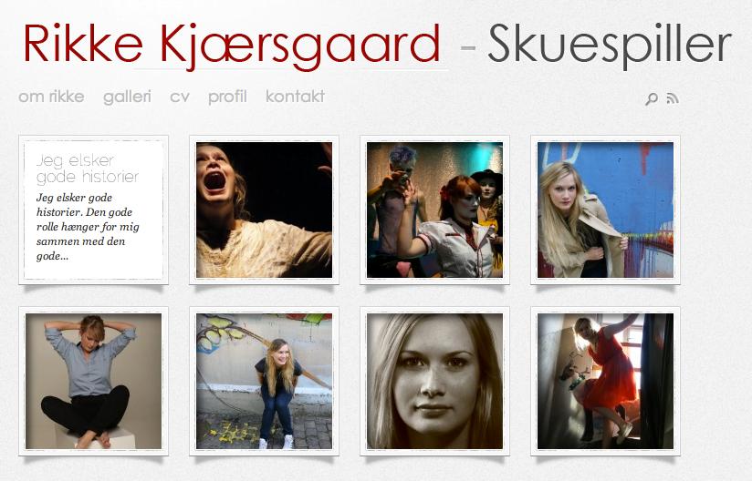 Screenshot af rikkekjaersgaard.dk