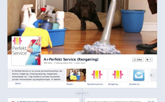 Projekter: perfektservice.dk - Facebook side og Trustpilot opsætning